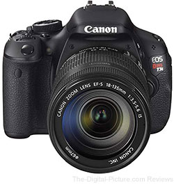 Canon EOS Rebel T3i DSLR Camera and 18-135mm IS Lens