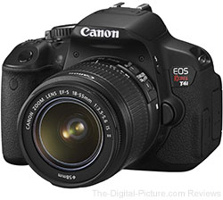 Refurbished Canon EOS Rebel T4i DSLR with EF-S 18-55mm IS II Lens - $499.99 Shipped (Compare at $799.00 New)