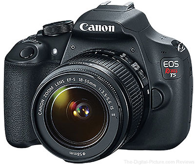 Canon EOS Rebel T5 with EF-S 18-55 IS II Lens