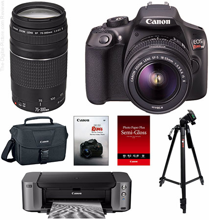 Canon EOS Rebel T6, 2 Lenses & PIXMA PRO 10 Printer - $549.00 Shipped AR