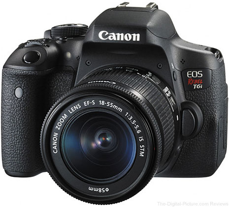 Canon EOS Rebel T6i DSLR with EF-S 18-55mm IS STM Lens