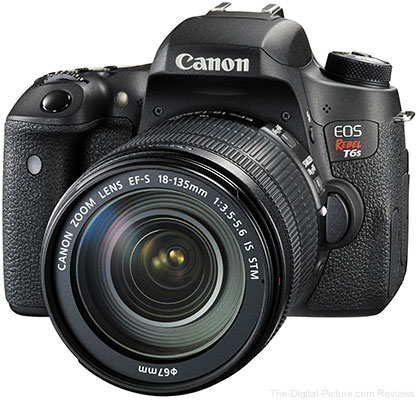 Canon EOS Rebel T6s with EF-S 18-135mm IS STM Lens In Stock at B&H