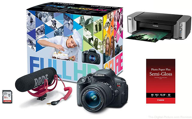 Canon EOS T5i Video Creator Kit + PIXMA PRO-100 Printer Bundle - $499.00 Shipped AR (Reg. $1,099.00)
