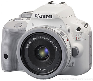 Canon Kiss X7 with EF 40mm STM Lens White