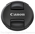 New Canon Lenses Shipping with Center-Pinch Lens Caps
