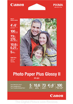 Photo Paper Plus Glossy II 4x6 (100 Sheets)