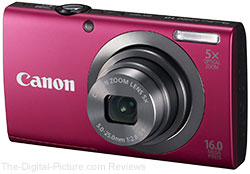 Canon PowerShot A2300 Digital Camera (Red)
