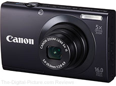Canon PowerShot A3400 IS Digital Camera (Black) - $69.99 (Compare at $89.00)