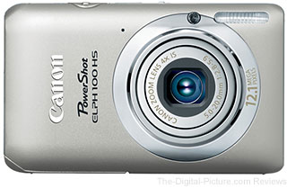 Refurbished Canon PowerShot ELPH 100 HS (Silver) - $69.99 with Free Shipping (Compare at $98.99 New)