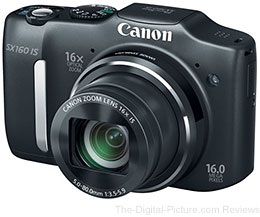 Refurbished Canon PowerShot SX160 IS Digital Camera - $99.99 (Reg. $152.99)