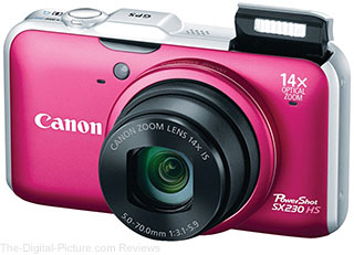 Refurbished PowerShot SX230HS Digital Camera - $97.49 with Free Shipping (Compare at $247.73)