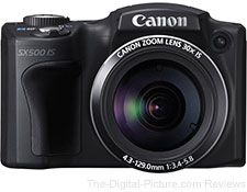 Refurbished Canon PowerShot SX500 IS Digital Camera - $169.99 (Reg. $224.99)