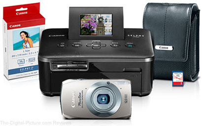 Refurbished CanonPowerShot ELPH 500 HS and SELPHY CP800 Printer Bundle