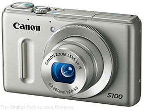 Refurbished Canon PowerShot S100 Bundle (Silver) - $194.97 (Compare at $319.99 New)