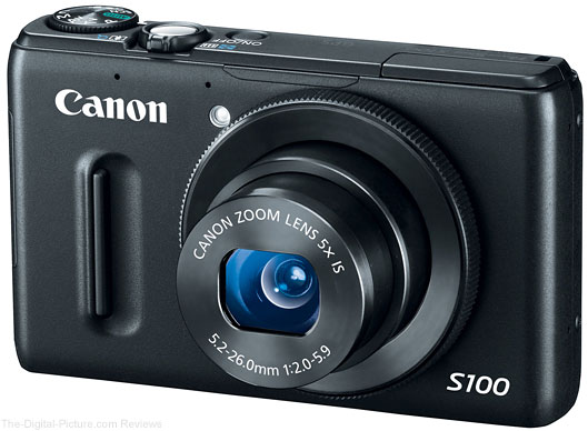 Refurbished Canon PowerShot S100 Digital Camera - $199.99 (Compare at $292.99 New)