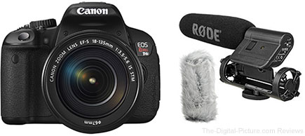 Canon EOS Rebel T4i DSLR Camera Kit with 18-135mm STM Lens and Video Accessories - $999.00 Shipped