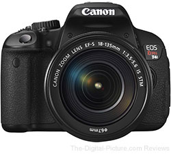 Canon EOS Rebel T4i with 18-135mm IS STM Lens