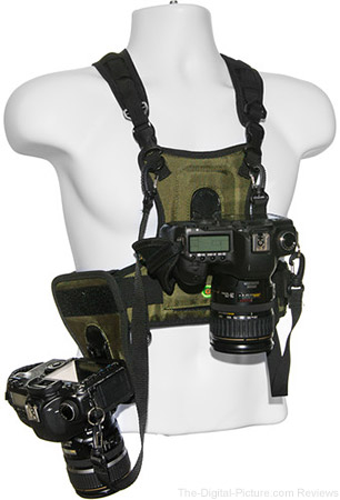 Cotton Carrier Camera Vest with Side Holster (Green) - $69.95 Shipped (Reg. $189.95)