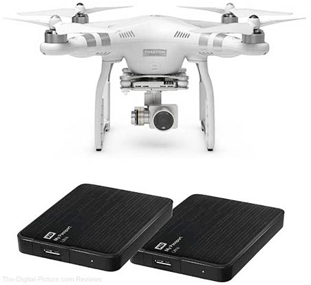 DJI Phantom 3 Advanced + 2 Free WD 2TB My Passport Ultra Drives