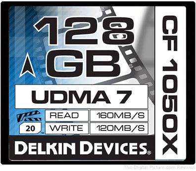 Delkin Devices 128GB CF 1050X UDMA 7 Cinema Memory Card - $98.95 Shipped (Reg. $133.95)