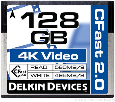 Delkin Devices 128GB Cinema CFast 2.0 Memory Card - $199.99 Shipped (Reg. $249.99)