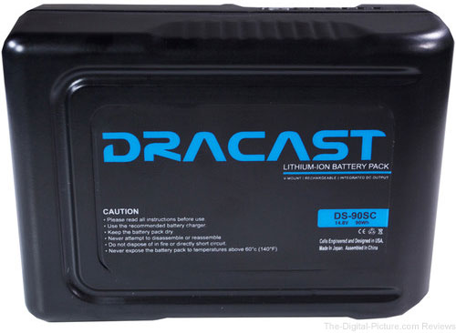 Dracast 90Wh Compact Li-Ion Battery (V-Mount) - $193.10 Shipped (Reg. $233.10)