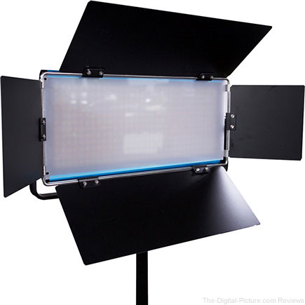 Dracast Cineray Series LED350 Bi-Color LED Panel with V-Mount Battery Plate - $267.95 (Reg. $535.50)