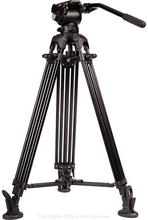 E-Image Two Stage Aluminum Tripod Legs with GH03 Head