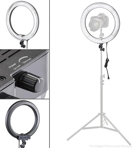 "Flashpoint Photo/Video 13"" AC Powered 600W 5500K Fluorescent Ring Light With Bag - $49.95 Shipped (Reg. $69.95)"