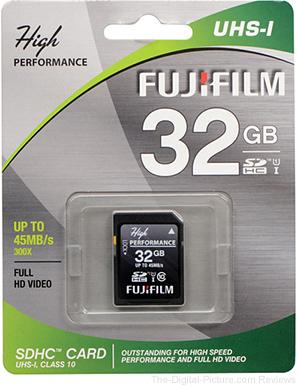 Fujifilm 32GB UHS-I SDHC Memory Card (45 MB/s)