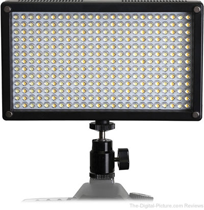 Genaray LED-7100T 312 LED Variable-Color On-Camera Light - $151.20 Shipped (Reg. $189.00)