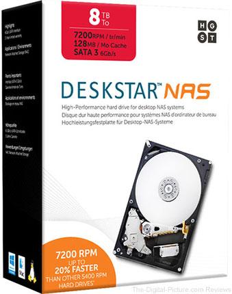 """HGST 8TB Deskstar 7200 rpm SATA III 3.5"""" Internal NAS Drive Kit - $239.95 Shipped (Reg. $299.95)"""