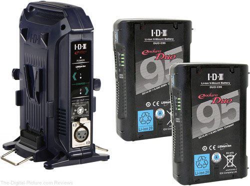 IDX System Technology Two DUO-C95 V-Mount Batteries & Charger/Power Supply Kit - $499.00 Shipped (Reg. $699.00)