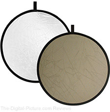 Impact Collapsible Reflector Disk Soft Gold/White