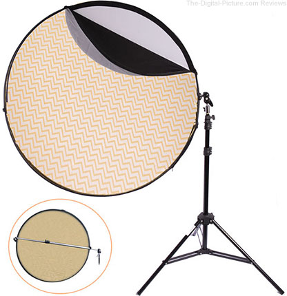 "Interfit Five-in-One 42"" Reflector and Arm Kit with Stand - $54.99 Shipped (Reg. $94.99)"