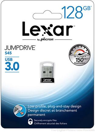 Lexar 128GB JumpDrive S45 USB 3.0 Flash Drive - $28.95 (Reg. $39.15)