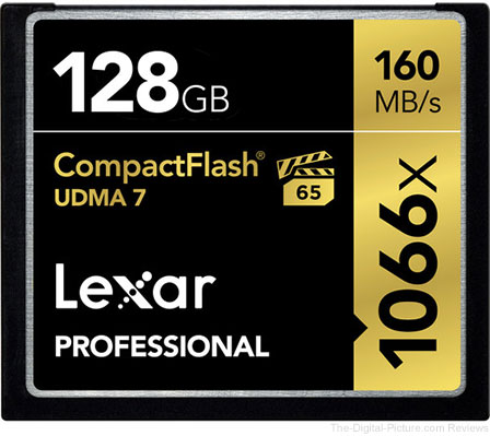 $32.00 Price Reduction: Lexar 128GB Professional 1066x CompactFlash