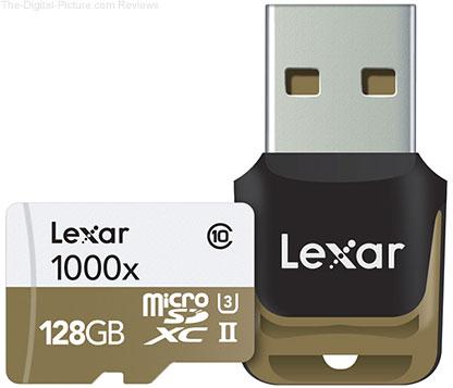 Lexar Professional 128GB microSDXC 1000x Memory Card