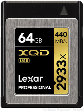 Lexar 64GB Professional 2933x XQD 2.0 Memory Card, 440MB/s Maximum Read Speed - $99.90 Shipped (Reg. $273.99)