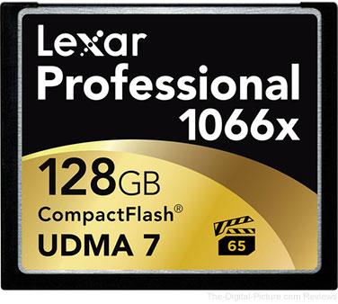 Lexar Professional 128GB CompactFlash Memory Card (1066x, UDMA 7)