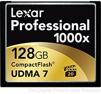 Lexar 1000x CompactFlash Deals at B&H and Adorama