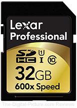 Lexar Professional 32GB SDHC Class 10 600x UHS-I Memory Card