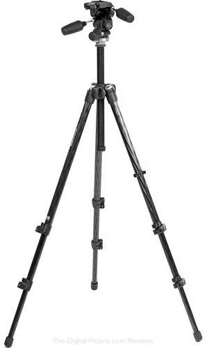 Manfrotto 294 Carbon Fiber Tripod with 804RC2 3-Way Head - $189.88 Shipped (Reg. $319.88)