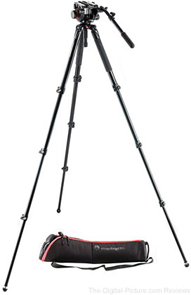 Manfrotto 504HD Fluid Head & MVT535AQ Aluminum Video Tripod Kit - $299.95 Shipped (Reg. $699.95)