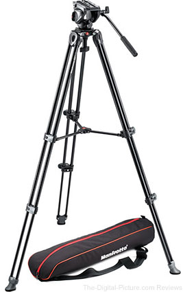 Get $125.00 Cash Back on Select Manfrotto Video Tripods