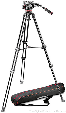 Manfrotto MVH502A Fluid Head and MVT502AM Tripod with Carrying Bag - $279.95 Shipped AR (Reg. $489.95)