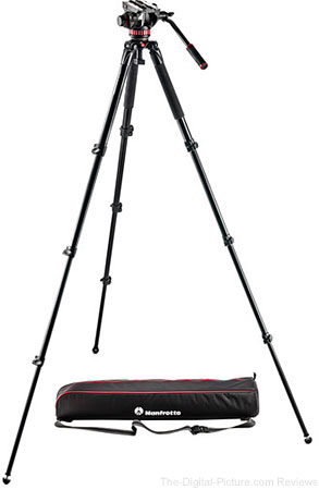 Manfrotto MVK502AQ Spreaderless Video Tripod with MVH502A Fluid Head - $229.00 Shipped (Reg. $549.00)