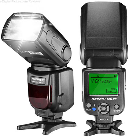 Neewer NW620(GN58) LCD Display Manual Speedlite Flash - $39.09 (Reg. $45.99)
