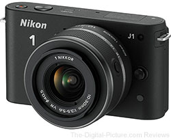 Nikon 1 J1 Digital Camera with 10-30mm VR Lens (Black)
