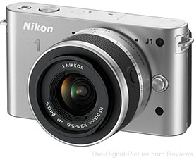 Nikon 1 J1 with 10-30mm VR Zoom Lens (Silver) - $199.00 Shipped (Compare at $279.99)